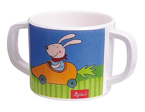 sigikid 24613 Melamin Tasse Racing Rabbit, mehrfarbig