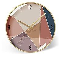 屋内/屋外の掛け時計 シンプルな時計クリエイティブベッドルームリビングルームミュート壁掛け時計ウォールウォッチ 装飾時計 (Color : G, Size : XL)