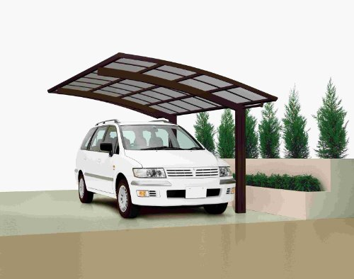 XIMAX Aluminium Design-Carport Portoforte Standard-Ausführung Typ 60 Mattbraun