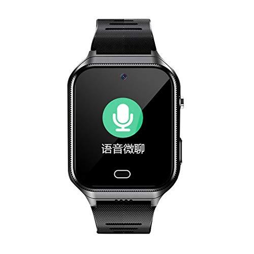 Mogzank Reloj de TeléFono Inteligente NiiOs Mayores Anti-Perdida GPS UbicacióN Llamada Frecuencia CardíAca PresióN Arterial Pulsera Deportiva