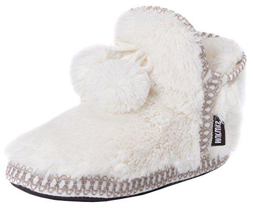 MUK LUKS Women's Erina Slippers – Ivory, XL
