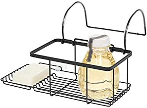 iDesign Everett Metal Over the Side Bathtub Caddy Basket for Master, Guest, Kid's Bathroom, 12.08