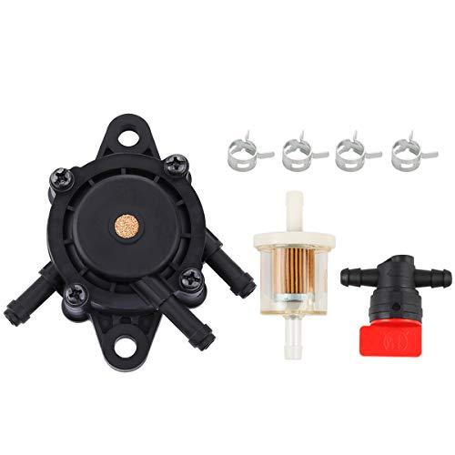 Hipa 49040-7001 Fuel Pump + Fuel Filter Fuel Shut-Off Valve for Kawasaki FH430V FH451V FH500V FH541V FH580V FH680V FH721V FX730V FX801V Engine Lawn Mower
