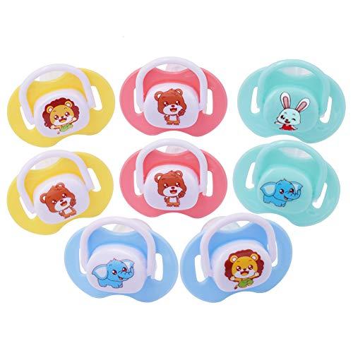 Silikon Schnuller - WENTS 8 Stück BPA-frei Baby Nacht Schnuller Kieferorthopädische Form 0-18 Monate (Runder/Flacher Kopf)