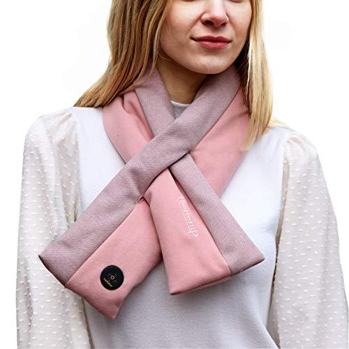 Thermrup Ferinfrarot Beheizbarer Schal mit 3-stufige Temperatureinstellung, Akkubetrieb (Rosa)