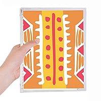 オレンジ色の線メキシコトーテムの古代文明の描画 硬質プラスチックルーズリーフノートノート
