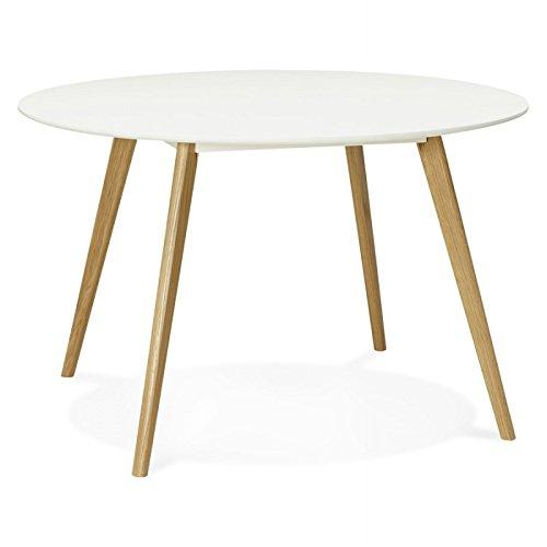 Table à Manger Style scandinave Ronde Millet en Bois (Ø 120 cm) (Blanc)