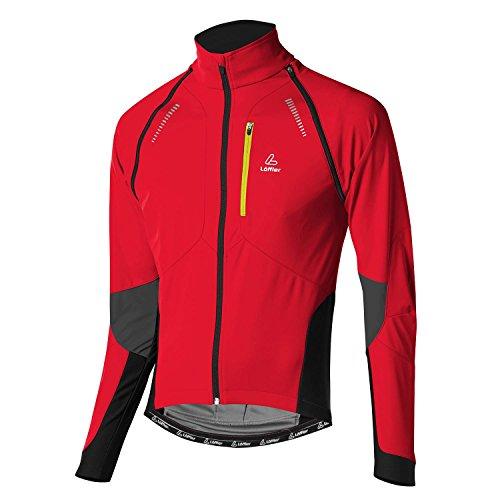 LÖFFLER Herren Bike Zip Off Jacke San Remo WS Softshell Light 15922 - Windstopperjacke zum Radfahren