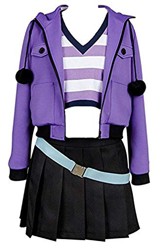 Ya-cos Fate/Grand Order FGO Apocrypha Fa Rider Astolfo Cosplay Costume Casual Suit Coat,Purple,Female Large