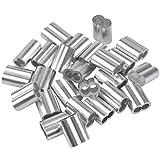 25 pz morsetti per funi professionali 8mm morsetti in alluminio, pinza a crimpare, pinze a...