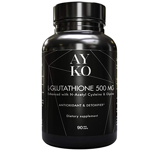 AYKO L-Glutathione 500 mg - Reduced Glutathione Skin Whitening Pills...