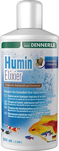 Dennerle Humin Elixier - Tropische Huminstoffe und Fulvosäuren, fördert die Gesundheit der Aquarienbewohner (500 ml)