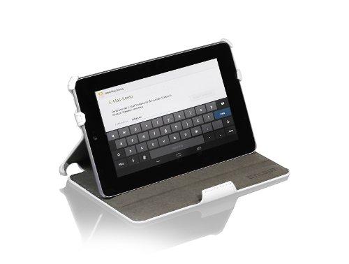 StilGut UltraSlim Hülle Tasche mit Standfunktion für Google Asus Nexus 7 (8 und 16GB) Sleep & Wake Up Funktion (EIN-& Ausschalten durch Aufklappen der Schutzhülle), weiß