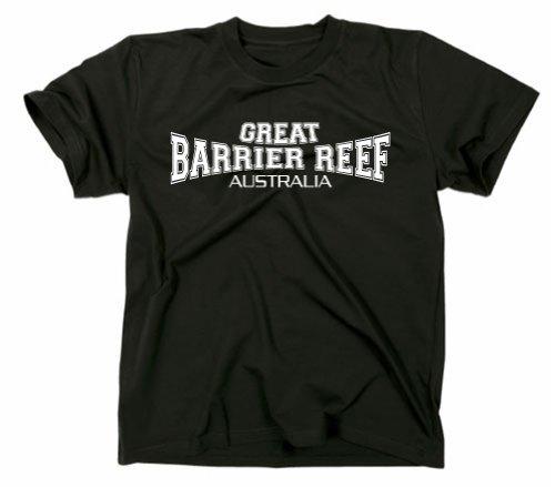 Gildan Great Barrier Reef Australia T-Shirt Noir XL