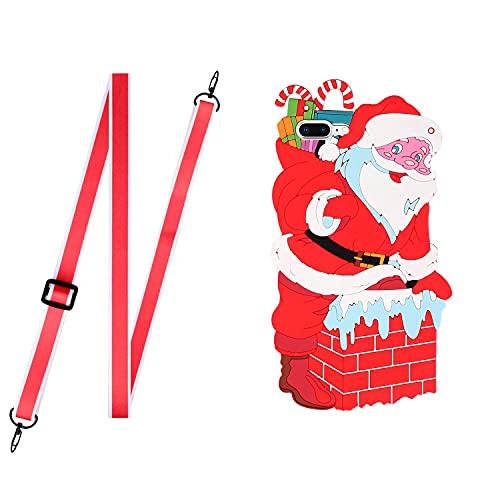 HUOCAI cover natale per iPhone 7 Plus / 8 Plus Custodia Silicone con Disegni Ultra Slim TPU Morbido Antiurto Christmas Cartoon Pattern Bumper Case Protettiva per iPhone 7 Plus / 8 Plus (Babbo Natale)