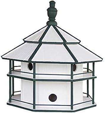 "Saving Shepherd 8 Room Purple Martin Birdhouse - 25"" Swallow 2 Story Bird Condo House Amish Handcrafted in Lancaster Pennsylvania USA"