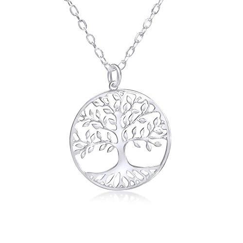 Collar Árbol de la Vida para Mujer - AMULETO de Plata de Ley 925 - 45cm