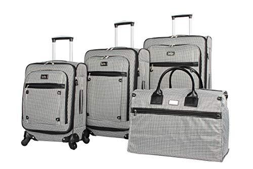 Nicole Miller New York Coralie Collection Juego de equipaje de 4 piezas: 28 pulgadas, 24 pulgadas,...