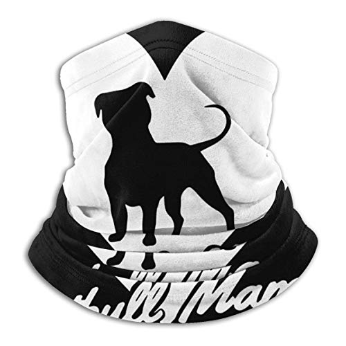 XXWKer Microfibre Chapeaux Tube Masque Visage Tour de Cou Cagoule, Pitbull Mama Dog Lover Gift Neck Cover Neck Warmer Winter Neck Warmer