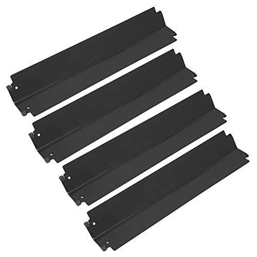 Placa calefactora para parrilla, protector térmico para parrilla de 407 x 95 mm / 16,0 x 3,7 pulgadas, placa calefactora de 4 partes, cubierta de acero inoxidable de repuesto para la cocina