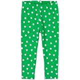 The Children's Place Baby Girls' Matchable Printed Leggings, Green, 2T