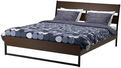 IKEA(イケア) TRYSIL ベッドフレーム ダークブラウン ルーローイ