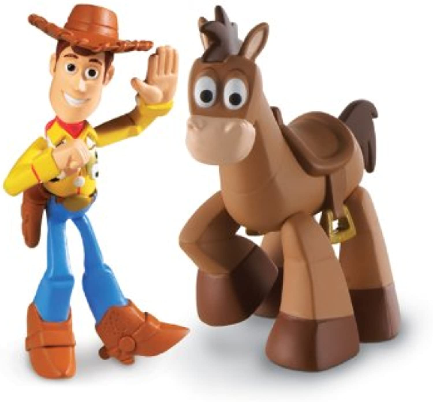 Toy Story Disney   Pixar 3 Action Links Mini Figure Buddy 2Pack Waving Woody & Bullseye