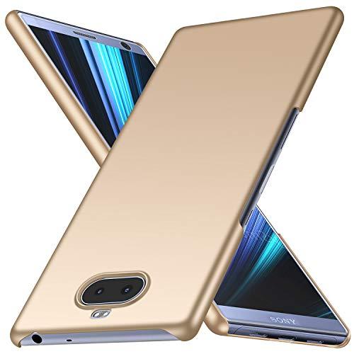 Arkour Sony Xperia 10 Plus Hülle, Minimalistisch Superdünne Leichte Slim Fit Handyhülle mit Glattes Matte Oberfläche Hard Hülle für Sony Xperia 10 Plus (Glattes Gold)