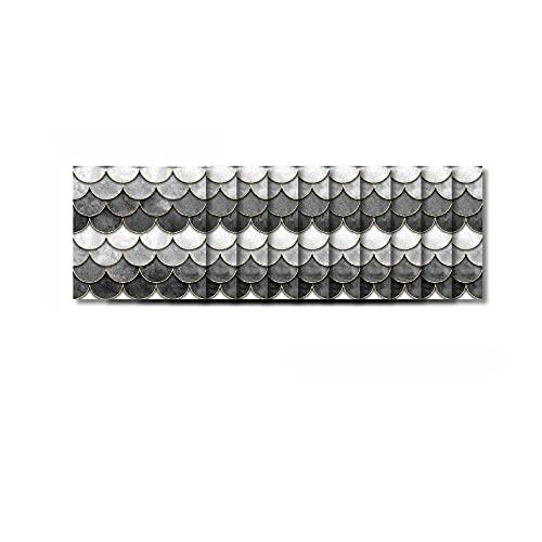Pegatinas para azulejos mosaicos blanquecinos, 20 x 20 cm, impermeables, autoadhesivas, para sala de estar, TV, fondo, decoración de pared, 10 unidades