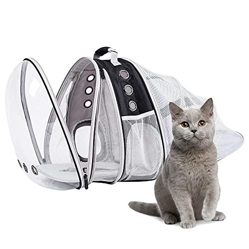 badewanne Mochila de hombro para mascotas portátil para gatos y perros mochila transparente viaje transpirable cápsula burbuja utilizada para ir de compras senderismo ciclismo al aire libre