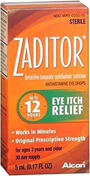 Zaditor Antihistamine Eye Drops 0.17 oz  Pack of 10