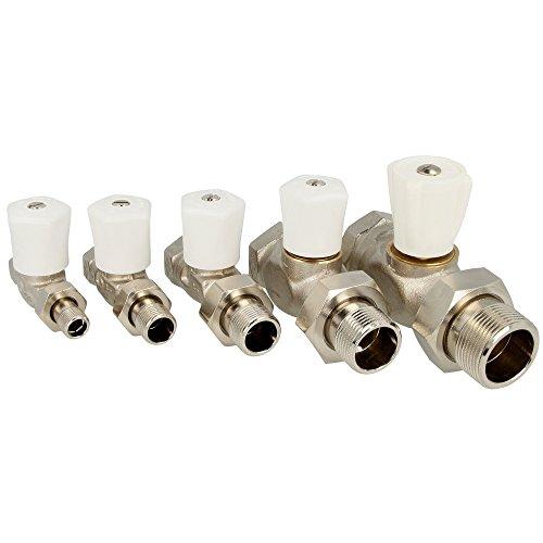 Llave de ajuste para radiador-válvula de 2.54 cm 2.54 cm de paso de níquel 0122-04, 500