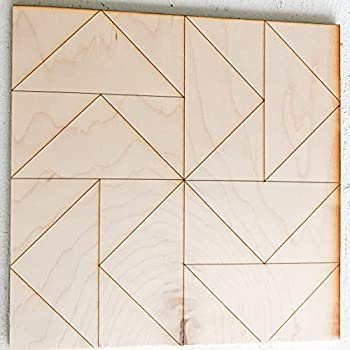 Unfinished Barn Quilt Square Wooden Sign Country Decor Canvas Quilts Blocks  Flying Geese