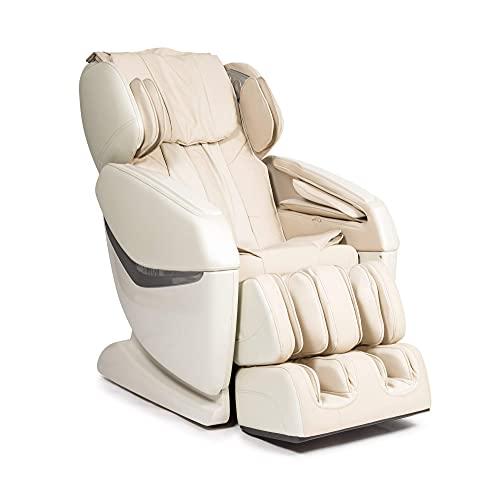 """KENSHO® Sillón de Masaje - Beige (Modelo 2021) - Presoterapia con Aire, Reflexoterapia de pies, Termoterapia de Espalda, Gravedad y Espacio """"Cero"""", Sonido Envolvente 3D, Bluetooth"""