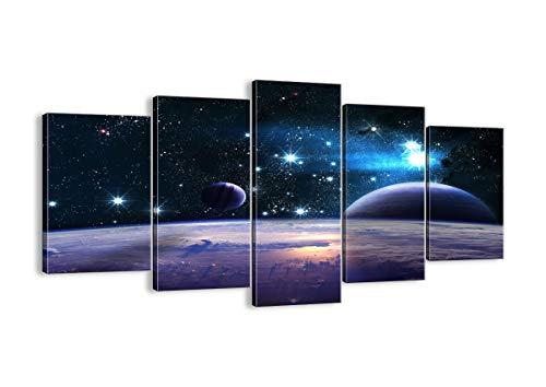ARTTOR Cuadro sobre Lienzo - Impresión de Imagen - Cosmos Planeta - 160x85cm - Imagen Impresión - Cuadros Decoracion - Impresión en Lienzo - Cuadros Modernos - Lienzo Decorativo - EA160x85-3575