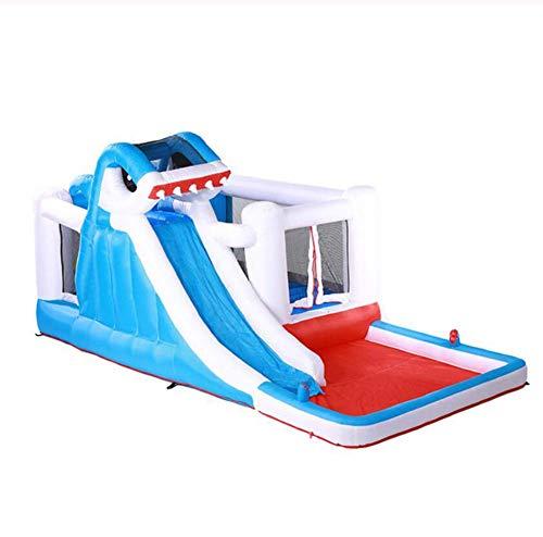 Zhihao Kinder aufblasbare Schwimmbecken Schloss Innen kleine Doktor Delphine gleiten zu Hause großes Spielzeug frech Trampolins im Freien, 01