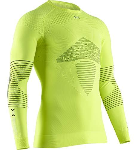 X-BIONIC Energizer 4.0 T-Shirt à Manches Longues et col Rond pour Homme M Phyton Jaune/Anthra.