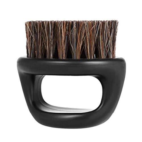 SUPVOX Cepillo para Barba de Cerdas de Jabalí (Negro)