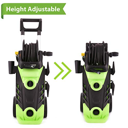 Homdox Electric Power Washer, 3500PSI High Pressure Washer Machine with Telescopic Hangle,2.60GPM,1800W,Hose Reel Design