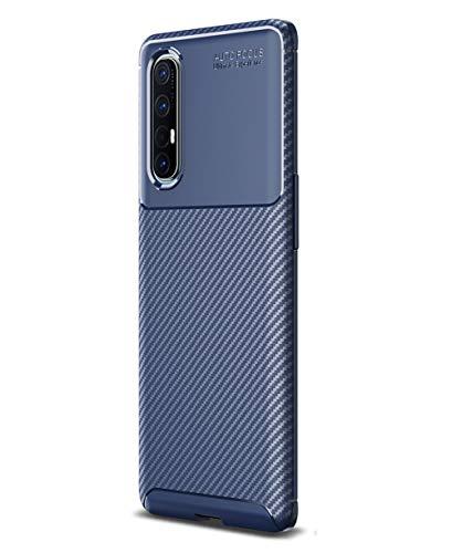NOKOER Hülle für Oppo Reno 3 Pro/Find X2 Neo, TPU-Material Weich Superdünn Hülle, Slim Fit Wärmeableitung Handyhülle [Abriebfest] [rutschfest] - Dunkelblau