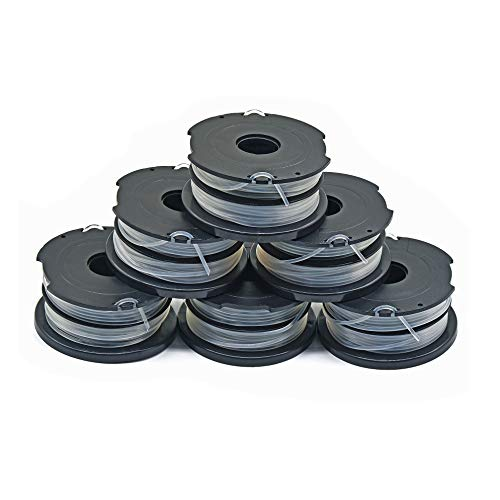 """Garden Ninja 0.065"""" Replacement Trimmer Spool Compatible with Black + Decker DF-065, fit Model GH700,GH710,GH750, 6-Pack"""