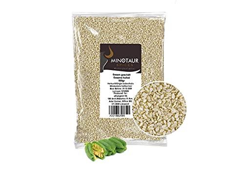 Minotaur Seeds   Sésame Blanc décortiqué, Graines de Sésame Naturelles, Vegan, 2 X 500 g (1 Kg)