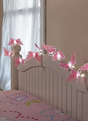 10 Butterfly String Lights with Fibre-Optic Magic Battery