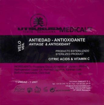 Antiage/Antioxidant Face Mask - Anti-Aging Gesichtsmaske (steril) mit Hyaluronsäure, Fruchtsäure u. Vitamin C ideal nach Microneedling mit Derma Pen bzw. Dermaroller o. einem Fruchtsäurepeeling