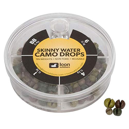 Loon Outdoors Tin Drops 4 Division - Skinny Water Split Shot (Camo)