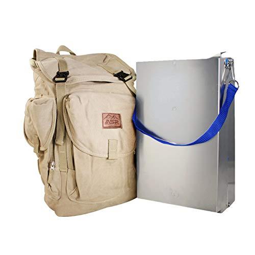 ASR Outdoor Aluminum Folding Sluice Box for Gold Prospecting Backpack Set, Khaki