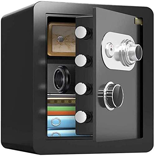 WSMLA Caja de seguridad de la contraseña mecánica del gabinete de caja fuerte, caja fuerte del hogar, 45 cm grande impermeable impermeable anti-taladrado anti-robo seguro seguro (Color : Black)
