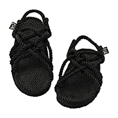 STONE-AGE STYLE FOR NOMADS NOW: Our all-rope, 6-strap sandals evoke Holy Land or High Desert wandering while tailored to explorers of today & tomorrow. Perfect for island-hopping or summer music festivals, they wrap your feet for all the rugged adven...
