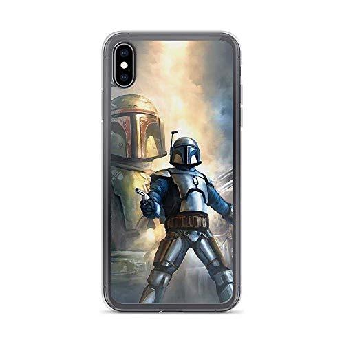 Compatible con iPhone 7 Plus/8 Plus Case Boba Jango Fett Twins Clone Trooper Stars Wars Personajes Drama Series Pure Clear Phone Cases Cover Cover