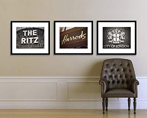 London Print Set, London Art Print, London Photography Set, Travel Photography, Harrods, Ritz Hotel, City of London, Living Room Wall Decor